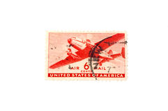 Airmail Stamp Stock Photo