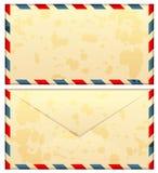 Airmail stara koperta ilustracji