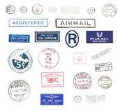 airmail stempluje rocznika ilustracji
