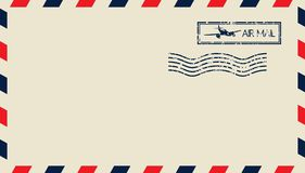 Airmail. Vector illustrations of the Airmail Royalty Free Stock Photo
