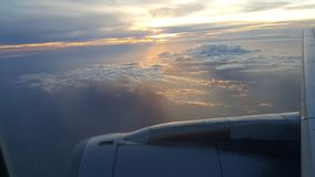 airNZ de Nova Zelândia da opinião de assento de janela Foto de Stock