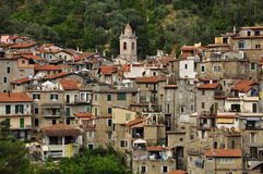 Airole mountain village, Liguria, Italy Stock Images