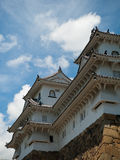 Airone di bianco del Giappone del castello di Himeji Immagine Stock
