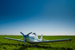 Airpale under blue skies Royalty Free Stock Photos