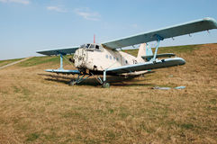 Airplain cimitery. An old airplane left to die after years of serving the agriculture Royalty Free Stock Photo