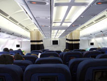Airplain interior 2 Royalty Free Stock Photo