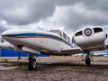 Airplain jato privado, exposição em Riga Fotografia de Stock Royalty Free