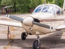 Airplain. private jet, exhibition in Riga. Airplain private jet exhibition in Riga, Latvia Stock Photos