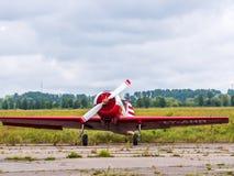 Airplain. private jet, exhibition in Riga. Airplain private jet exhibition in Riga, Latvia Stock Image