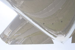 Airplain Wing. Lowerside of an Airplane wing Royalty Free Stock Photography