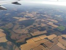 Airplain ziemi wierzchołek obrazy royalty free