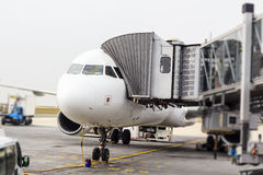 Airplaine in CDG-Flughafen, Paris Stockfotografie