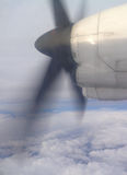 Airplaine propeller Stock Photography