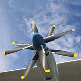 Airplaine propellers. Square shot of airplaine propellers Stock Image