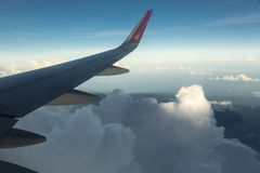 Airplaine wing Royalty Free Stock Image