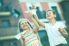Airplaines детей бумажные Стоковая Фотография