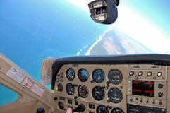 airplan主要cessna驾驶舱 免版税库存图片