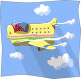 Airplan έξυπνο διανυσματική απεικόνιση