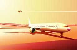 airplan λεπτομερής διανυσματική απεικόνιση