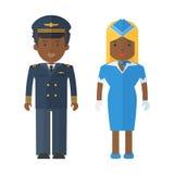 Airplan προσωπικό μαύρων ελεύθερη απεικόνιση δικαιώματος