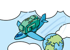 airplan σακίδιο Στοκ εικόνες με δικαίωμα ελεύθερης χρήσης