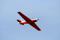 airplan acrobaticsantenn Royaltyfri Fotografi