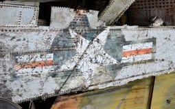Airplan aftercrasch Stock Photos
