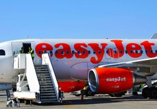 airplan easyjet obrazy stock