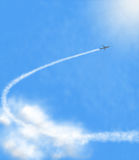 Airplan en nubes Fotografía de archivo libre de regalías