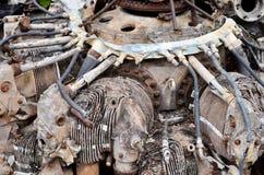 Airplan engine. View of damage airplan engine Royalty Free Stock Photo