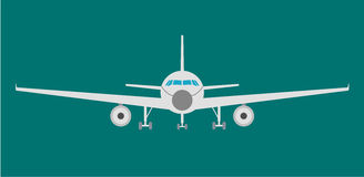 Airplan flat icon, sign and symbol. Vector Illustration Royalty Free Stock Photos