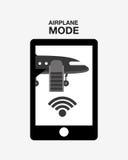 Airplan mode  design Royalty Free Stock Photo