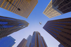 An Airplan over Chicago, illinois, USA. An Airplan over Chicago, illinois, US Stock Photography