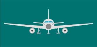 Airplan płaska ikona, znak i symbol, również zwrócić corel ilustracji wektora Zdjęcia Royalty Free