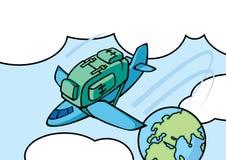 airplan plecak Obrazy Royalty Free