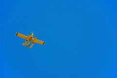 Airplan in the sky Royalty Free Stock Photos