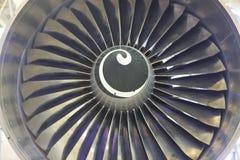 Airplan Turbo-jet engine, close up Stock Image
