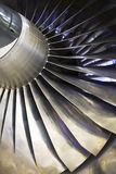 Airplan Turbo-jet engine, close up Royalty Free Stock Photos