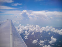 Airplan wing Royalty Free Stock Photography