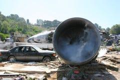 Airplane's crash. Airplane crash scene. Canon 20D Stock Photography