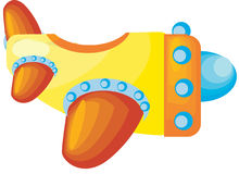 Airplane. A beautiful colored vector illustrated toy airplane Stock Photos