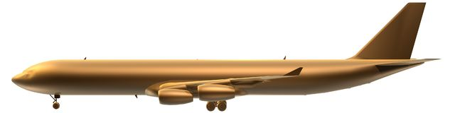 Airplane. Golden airplane of france side Stock Photo