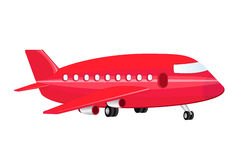 Airplane. Image of a red airplane Stock Image