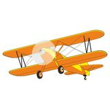 Airplane. Fully editable  illustration airplane Stock Image