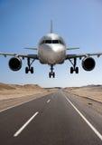 Airplane. Big airplane ready to land Stock Photo
