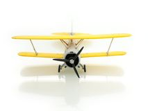 Airplane. Retro airplane on white background Stock Images