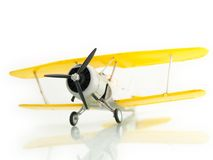 Airplane. Retro airplane on white background Royalty Free Stock Image