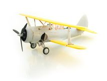 Airplane. Retro airplane on white background Royalty Free Stock Images