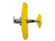 Airplane. Retro airplane on white background Royalty Free Stock Photos