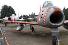 Airplane. A North American F-86 Sabre shown at the Turkish Air Force Museum on March 19, 2011 in Istanbul, Turkey Stock Images